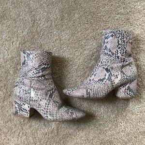 Matisse snake skin booties